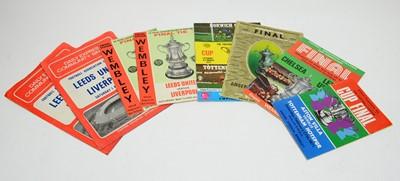 Lot 1255 - FA Cup final programmes