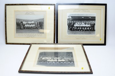 Lot 1261 - Three Schools International black-and-white team photographs for England teams
