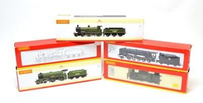 Lot 860 - Five boxed Hornby 00-gauge locomotives.