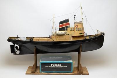 Lot 1206 - A mid-20th Century scratch built ship model