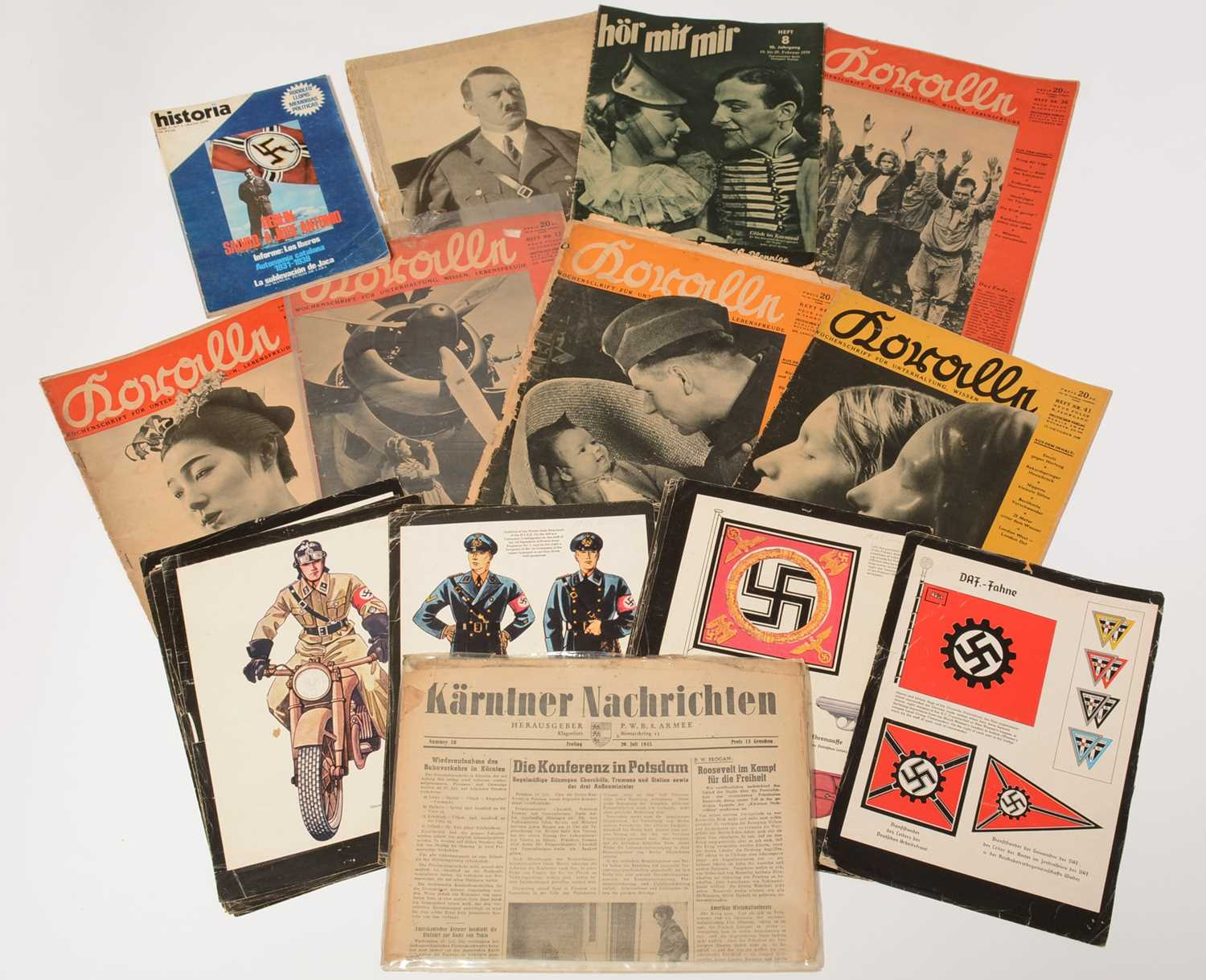 Lot 1034 - Collection of WWII German magazines and newspapers