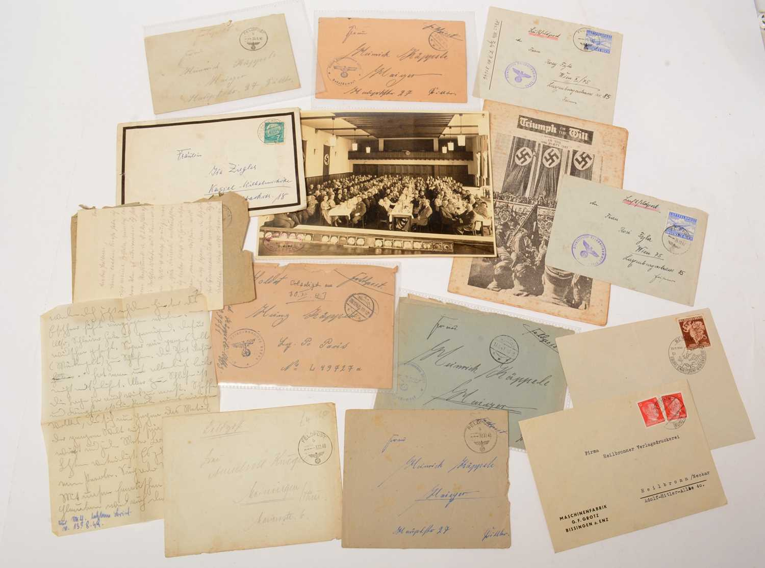 Lot 1036 - Collection of WWII German letters