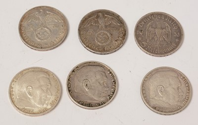 Lot 1038 - Collection of WWII and later German Coins and bank notes