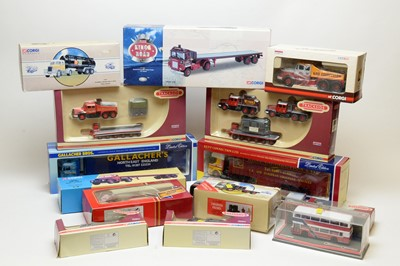 Lot 850 - Collection of boxed Corgi scale model commercial and trackside vehicles.