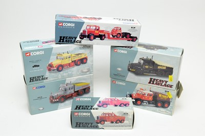 Lot 851 - Six boxed Corgi Heavy Haulage Series and Classics Series vehicles.