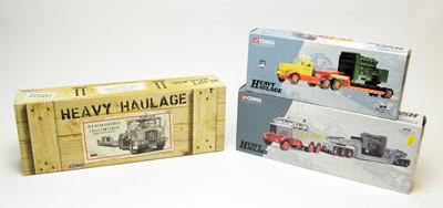 Lot 852 - Three boxed Corgi scale model heavy haulage vehicles.