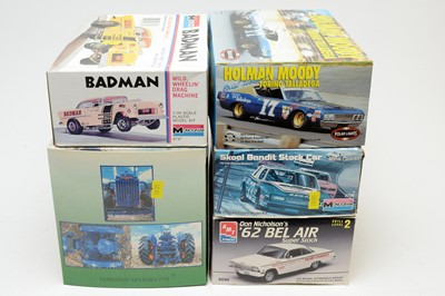 Lot 855 - Five boxed scale model vehicles.