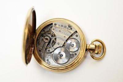 Lot 12 - A gentleman's Omega wristwatch and Waltham hunter pocket watch.