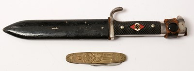 Lot 1042 - Reproduction Hitler Youth knife and pocket knife