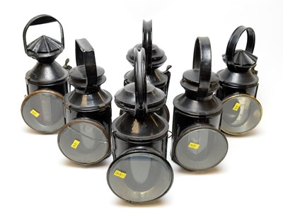 Lot 1226 - Six 19th\early 20th Century railway signal lamps