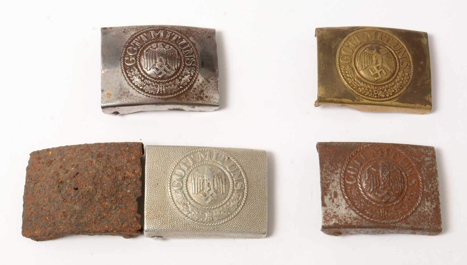 Lot 1044 - Collection of WWII and later German Heer belt buckles