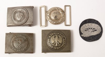 Lot 1045 - Three WWII and later German belt buckles