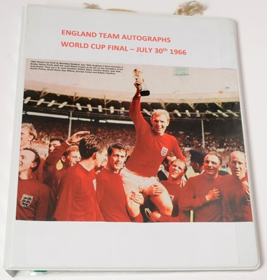 Lot 1237 - Autographs of the World Cup Final winning team members