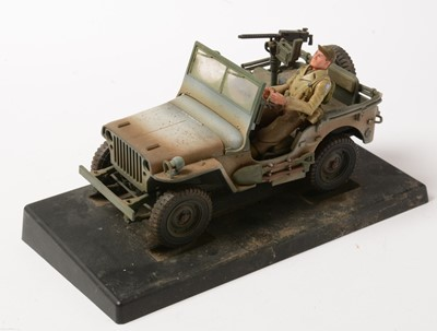 Lot 1050 - 21st Century Toys - WWII Kubelwagen, Jeep and accessories