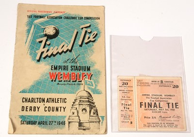Lot 1244 - An F.A. Cup Final programme, and ticket