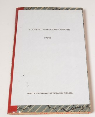 Lot 1247 - A large selection of 1960s football players autographs