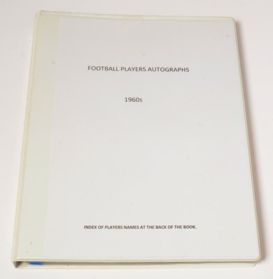 Lot 1248 - Football players autographs from the 1960s