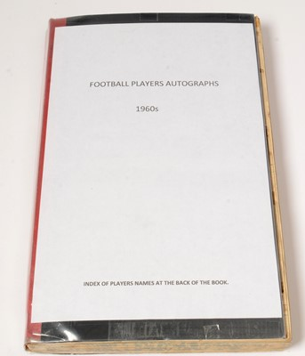 Lot 1238 - Football players autographs from the 1960s