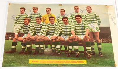 Lot 1240 - Glasgow Celtic Football Club players autographs from 1965