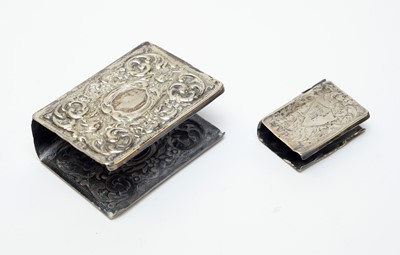 Lot 35 - Antique silver matchbox and vesta box covers.