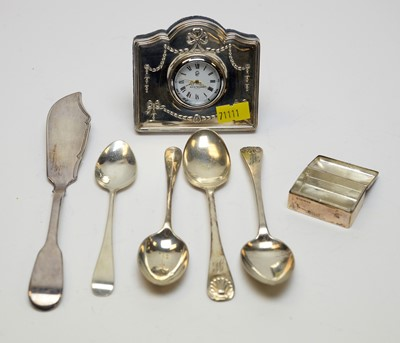 Lot 45 - Antique and other items of silver.