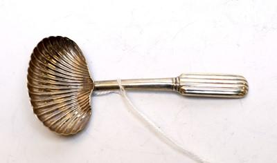 Lot 66 - A George III silver caddy spoon.