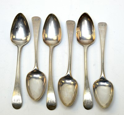 Lot 67 - A set of six George III silver teaspoons.