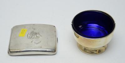 Lot 68 - A George V silver cigarette case and pedestal bowl.