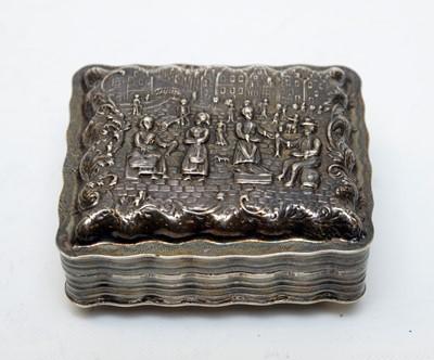 Lot 69 - A 19th Century Dutch silver snuff box.