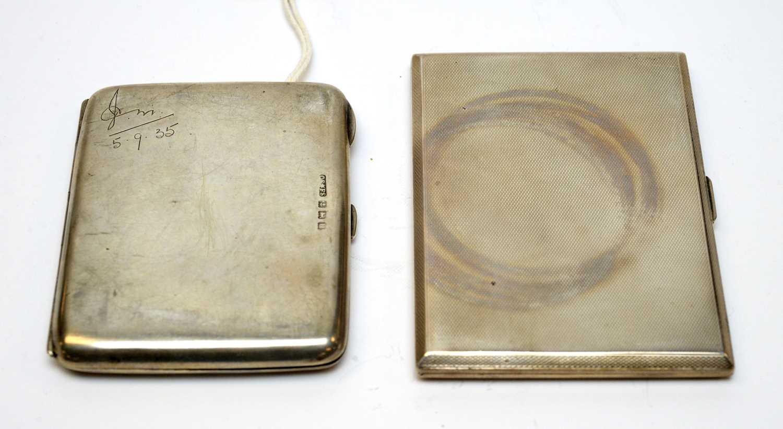 Lot 88 - Two silver cigarette cases.