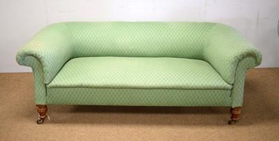 Lot 79 - A Victorian walnut Chesterfield sofa.