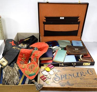 Lot 417 - A selection of Masonic regalia