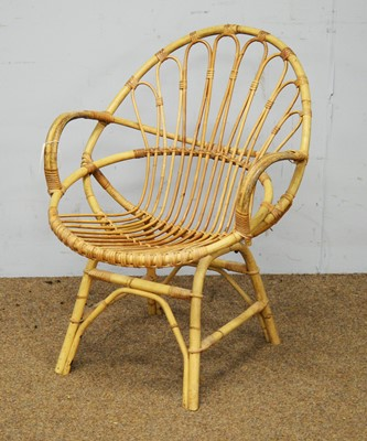 Lot 36 - A vintage bamboo conservatory chair.