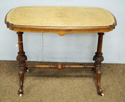 Lot 23 - A Victorian inlaid burr walnut side table.