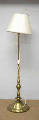 Lot 35 - An Indian style gold painted metal lamp standard.