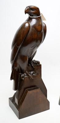 Lot 270 - German carved wood eagle sculpture