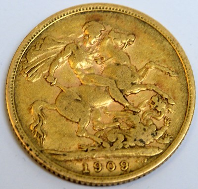 Lot 109A - A 1909 gold sovereign.
