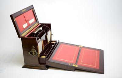 Lot 420 - Early 20th Century inlaid mahogany correspondence box