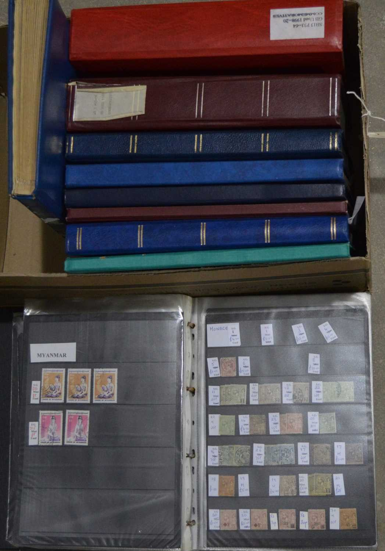 Lot 14 - World stock stamp books
