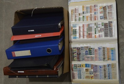 Lot 15 - A box containing mixed world stamp collection
