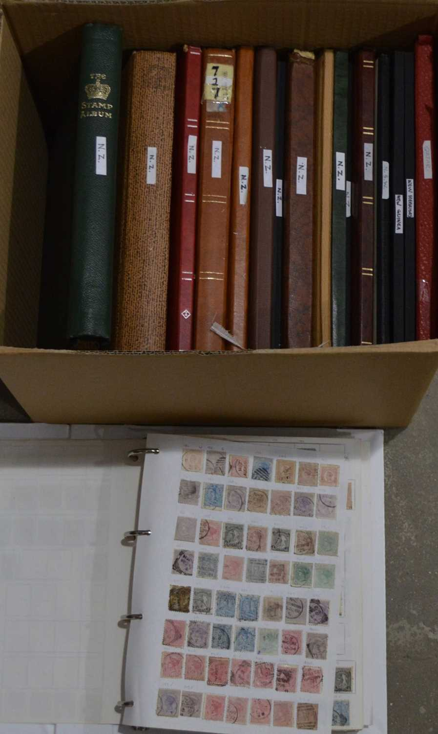 Lot 21 - A large quantity of New Zealand stamp stock, in stock books.