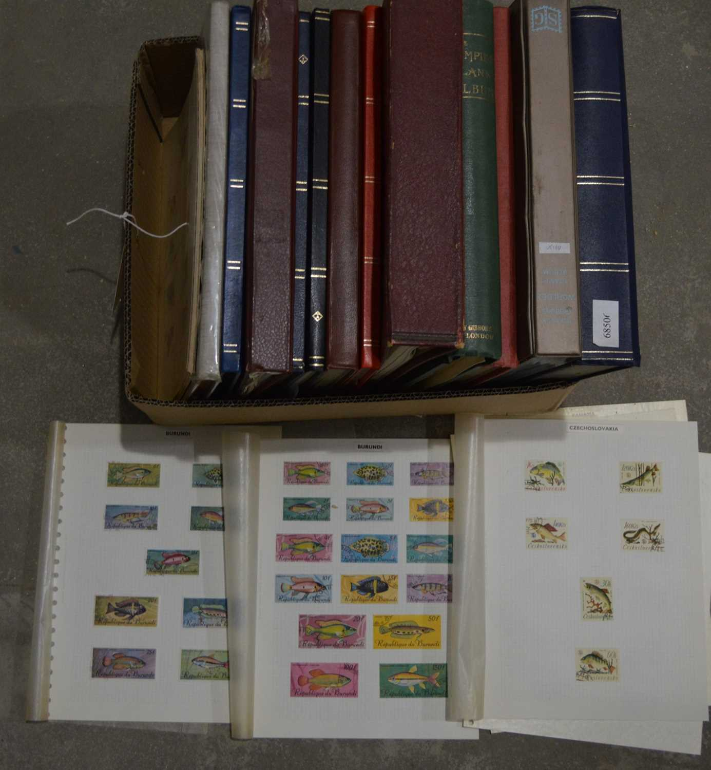 Lot 27 - Large quantity of world stock stamps in various stock books.