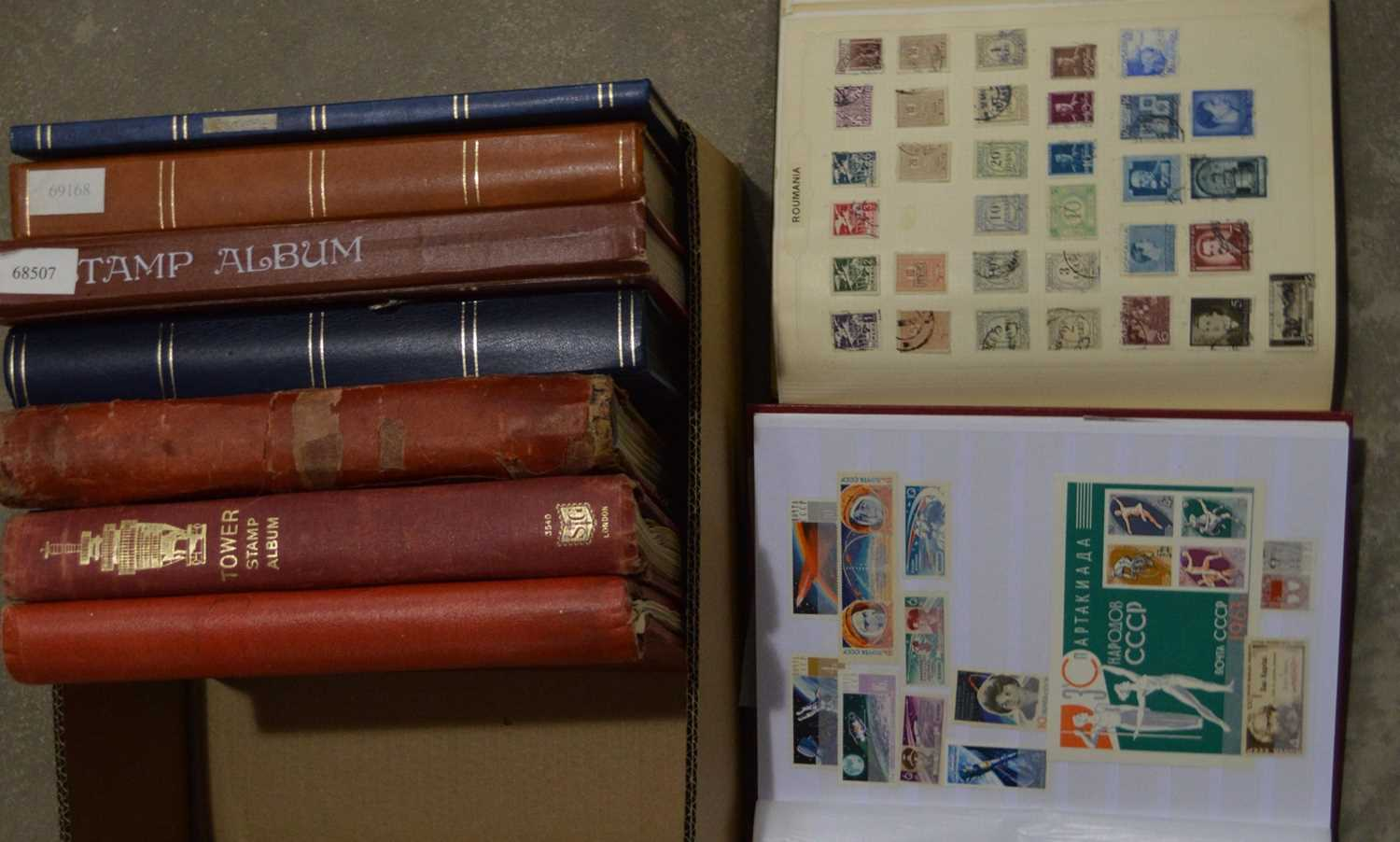 Lot 40 - Stamps in stock books