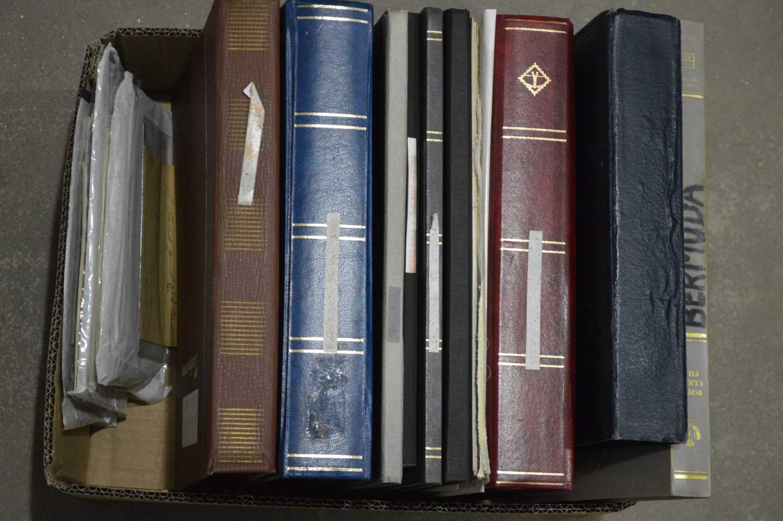 Lot 43 - Wolrd stock stamp albums