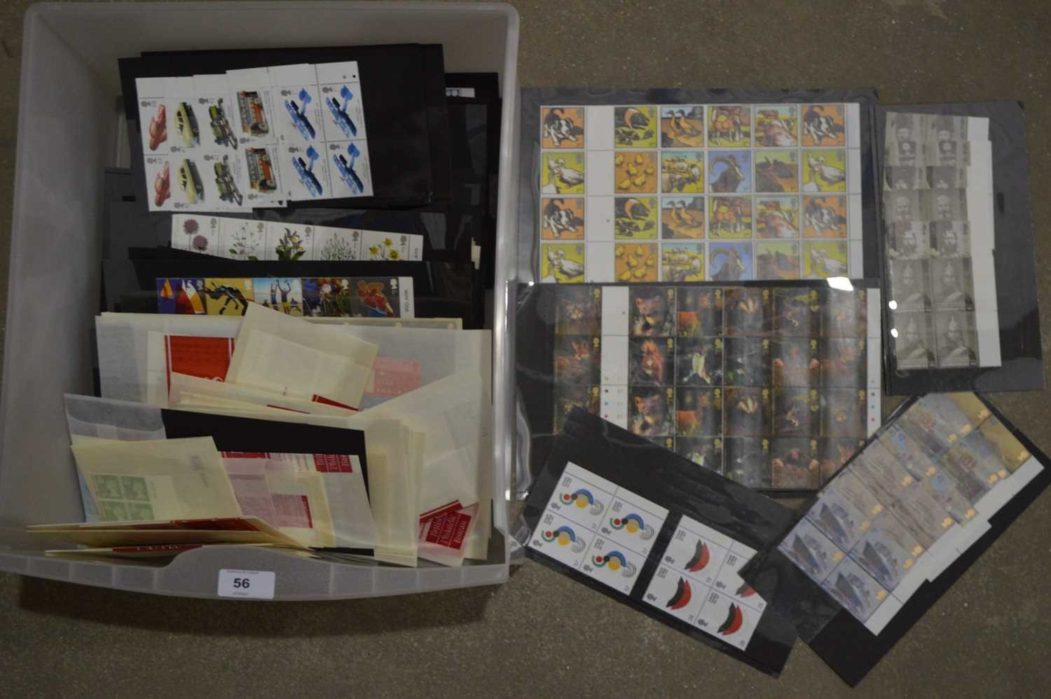 Lot 56 - A large quantity of Royal mail mint and used stamps