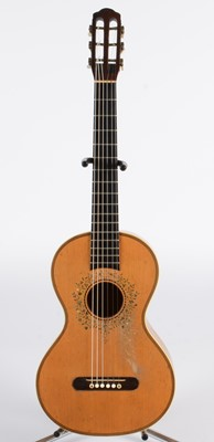 Lot 317 - A French Mirecourt Guitar stamped 'Brugere a Mirecourt'