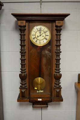 Lot 88 - A Vienna wall clock by Gustav Becker