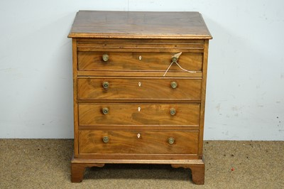 Lot 47 - A mahogany four drawer chest.