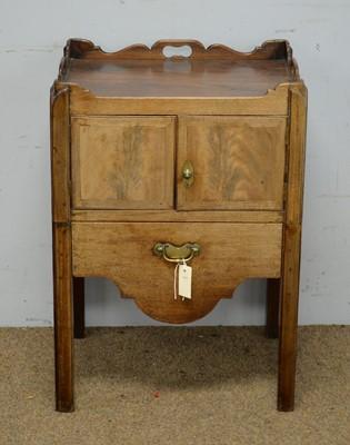 Lot 56 - A Georgian mahogany tray-top cupboard.
