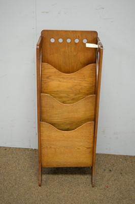 Lot 46 - Finnigans' Ltd: Arts & Crafts oak magazine stand.